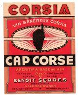 Etiquette Vin Corse Cap Corse Valence D'Agen Benoit Serres - Etichette