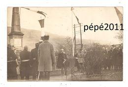 Carte Photo 57 SIERCK Souvenir Visite M Mirman Commissaire République De Metz Le 23 Mars 1919 Allocution - Otros Municipios