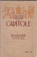 31---TOULOUSE--grand Théatre Du Capitole--programme Officiel Saisson 1930-31--voir 10 Scans - Programmes