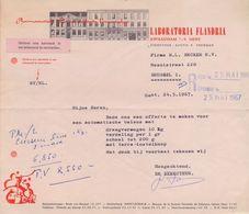 1967: Brief Van ## LABORATORIA FLANDRIA, Kwaadham, 7-9, GENT ## Aan ## Firma H.L. BECKER N.V., Mosnisstraat, 220, BR. ## - Chemist's (drugstore) & Perfumery