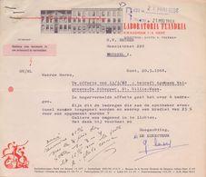 1968: Brief Van ## LABORATORIA FLANDRIA, Kwaadham, 7-9, GENT ##  Aan ## N.V. BECKER, Masuistraat, 220, BR. ## - Droguerie & Parfumerie
