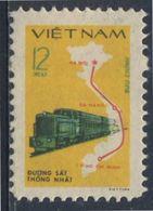 Vietnam 1980 Mi 1124 YT 252 ** Diesel Train + Railway Route Map / Zug, Karte Vietnams - Fernmeldetag - Vietnam