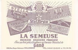 Buvard Bière La Semeuse Hellemmes - Buvards, Protège-cahiers Illustrés