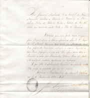 ESPAÑA - BRASIL - ILHA DE ITAPARICA , BAHIA - 1838 CARTA DE SANIDAD Emitida Por Consul De ISABEL II - Reina De España - Documentos Históricos