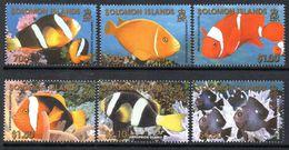 Solomon Islands 2001 Reef Fish Set Of 6, MNH, SG 996/1001 (B) - Salomoninseln (Salomonen 1978-...)
