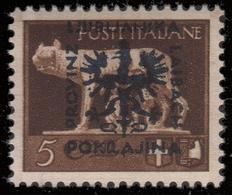 "Lubiana (occupazione Tedesca) ""Imperiale"" 5 C. Bruno - 1944 - Deutsche Bes.: Lubiana"