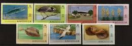 Anguilla 1977 N° 242 / 8 ** Courants, Animaux, Nyctanassa, Poisson, Barracuda, Strombus, Acanthostracion, Phaeton, Yucca - Anguilla (1968-...)