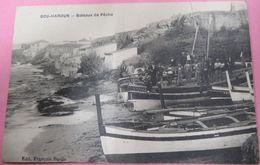 BOU HAROUN - BATEAUX DE PECHE CASTIGLIONE ET DES PECHEURS . CARTE ANIMEE - ALGERIE - Other Cities