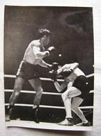 Photo Photographie Originale Annotée Au Dos Boxe Boxeur  Joseph Preys Al Phillips Albert Hall 4 Decembre 1947 - Sports