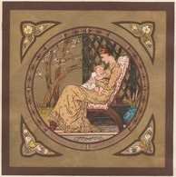 Greeting Card Mother & Child    Egc164 - Old Paper