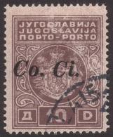 OCCUPAZIONE ITALIANA -  LUBIANA: Segnatasse Di Jugoslavia Del 1931 Soprastampato CO.CI - 10 D.  Bruno - 1941 - Slovenia