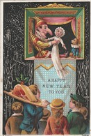 Greeting Card  New Year Punch & Judy    Egc168 - Unclassified