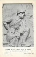 Segré (Maine-et-Loir) - Haut Relief En Bronze Du Monument Aux Morts - Carte Non Circulée - Monuments Aux Morts