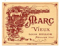 Etiquette Bellor Louis Moulins Vieux Marc - Etichette