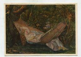 PAINTING / ART - AK 320093 Gustave Courbet - Frau In Der Hängematte - Peintures & Tableaux
