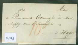 BRIEFOMSLAG Uit 1849 Bezorgd Door SPOORWEG En STOOMBOOT EXPEDITIE KOENS Naar 's-GRAVENHAGE   (10.729) - ...-1852 Vorläufer