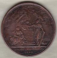 Médaille Confédération Des François, Paris Le 14 Juillet 1790 Par GATTEAUX - Royal / Of Nobility
