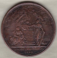 Médaille Confédération Des François, Paris Le 14 Juillet 1790 Par GATTEAUX - Royaux / De Noblesse