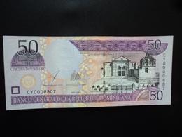 RÉPUBLIQUE DOMINICAINE : 50 PESOS ORO   2003   P 170c    Presque NEUF - Dominicaine