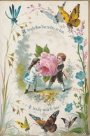 Greeting Card  New Year Boy Presenting A Rose To A Girl    Egc170 - Oude Documenten