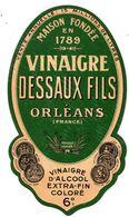 Etiquette Dessaux Oréans  Vinaigre Coloré - Sonstige