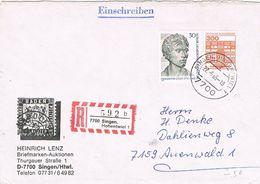 28102. Carta Certificada SINGEN (Alemania Federal) 1985 - [7] República Federal