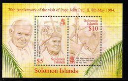 Solomon Islands 2004 Pope John Paul II MS, MNH, SG 1056 (B) - Islas Salomón (1978-...)