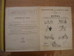 1926 Brochure Catalogue MANUFACTURE JOUETS EN BOIS Morel Clermont Ferrand - Advertising