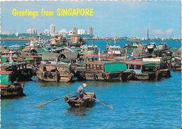 SINGAPORE - Waterfront And View Of Chinese Junks - Singapour