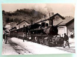 """Cpsm Stock Neuf Non Dentelée"""" Locomotive N°403 Des CFD Le Mastrou En Gare Du Cheylard"""" Collection C.Schnabel - Gares - Avec Trains"""