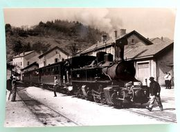 "Cpsm Stock Neuf Non Dentelée"" Locomotive N°403 Des CFD Le Mastrou En Gare Du Cheylard"" Collection C.Schnabel - Stazioni Con Treni"