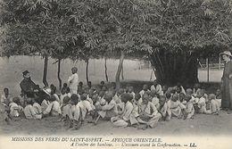 CARTE POSTALE ORIGINALE ANCIENNE : MISSIONS DES PERES DU SAINT ESPRIT AFRIQUE ORIENTALE A L'OMBRE DES BAMBOUS UN EXAMEN - Mozambique