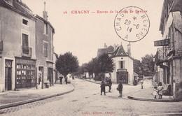 CHAGNY,,,,,,ENTREE De La  ROUTE  De  BEAUNE,,,,,, CACHET CONVOYEUR  De  CHAGNY  A  NEVERS ,,,,29 - 06 - 1914,,,,TBE,,, - Chagny