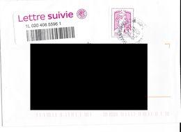 Lettre Suivie De La Poste. (Voir Commentaires) - 2013-... Marianne (Ciappa-Kawena)