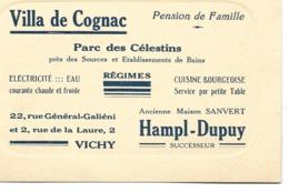 """03 - Vichy - Carte Commerciale """"Villa De Cognac"""" - Vichy"""