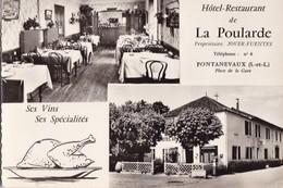 "PONTANEVAUX,,,,,HOTEL RESTAURANT De  ""  LA  POULARDE  "" ,,,,BE,,,, - Hotels & Restaurants"