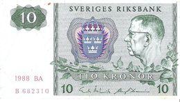Sweden - Pick 52e - 10 Kronor 1988 - F+ - Svezia