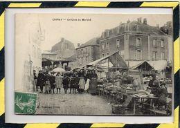 DPT 86. - . CIVRAY - UN COIN DU MARCHE. CIRCULEE EN 1909 - Civray
