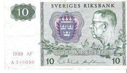 Sweden - Pick 52e - 10 Kronor 1989 - F - Suède
