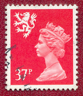 Great Britain GB Regional Scotland 1971 - 1993 37p Red Machin Used - Regional Issues