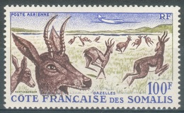 French Somali Coast, Antelope, 100f., 1958, MLH VF  Airmail - French Somali Coast (1894-1967)