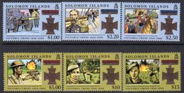 Solomon Islands 2006 150th Anniversary Of The Victoria Cross Set Of 6, MNH, SG 1188/93 (B) - Salomoninseln (Salomonen 1978-...)