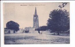 CP 1931 - MARENNES - Magnifique Clocher Du XV è Siècle - La Place - Marennes