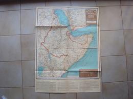AFRICA ORIENTALE ITALIANA A.O.I. COLONIE CARTA GEOGRAFICA ETIOPIA ALLEGATA AL CALENDARIO DEL P.N.F. ANNO XIV - Sin Clasificación