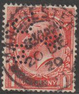 1600  UK GB Engeland 1902 SG Nr. 219 Perfin MCA  Used - 1902-1951 (Könige)
