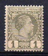 MONACO : S088  -  1885  1 C. MNH : Very Light Horizz. Fold  -  Yvert  € 70 - Neufs