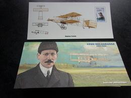 Bloc Souvenir 54 (les Pionniers De L'aviation  LEON DELAGRANGE) - Blocs Souvenir
