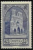 """FR YT 399 """" Restauration De La Cathédrale De Reims """" 1938 Neuf** - Frankreich"""