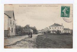 Haute Vienne. Châteauneuf La Forêt. La Poste Et L'école Des Garçons. (2582) - Chateauneuf La Foret