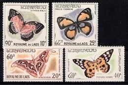 Laos 1965  Mi.nr.: 151-154 Schmetterlinge  Neuf Sans Charniere / MNH / Postfris - Laos